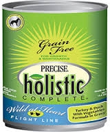 Canine Precise Holistic Complete Grain Free Turkey & Duck Canned 13.2 oz.