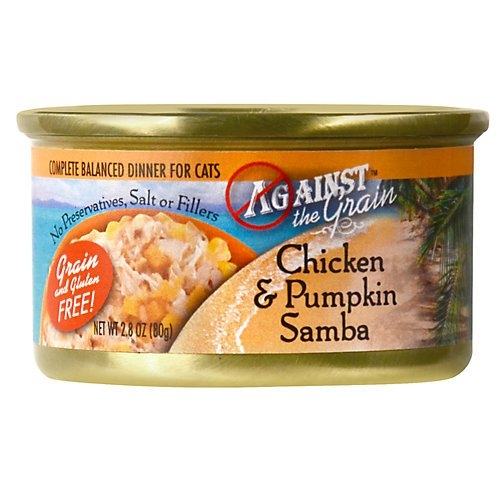 Evanger's Against the Grain  Chicken & Pumpkin Samba Cat 24/2.8Oz