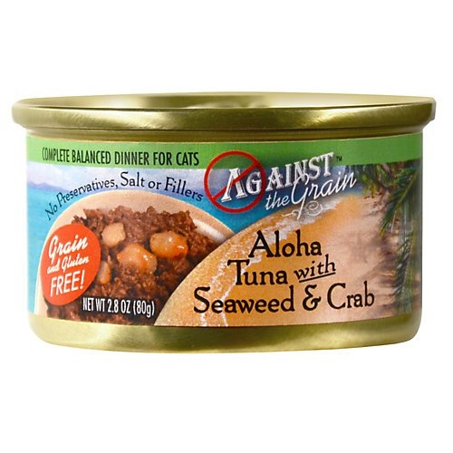 Evanger's Against the Grain  Aloha Tuna W/ Seaweed & Crab Cat 24/2.8Oz