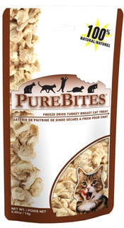 PureBites Freeze Dried Turkey Breast Cat Treats- 0.49 oz
