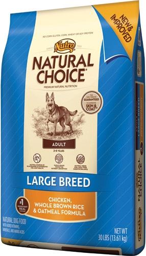 Nutro Natural Choice Large Breed Ck/Br/Oat 30 lb