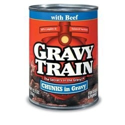 Delmonte Gravy Train Chunks in Gravy with Beef 24/13.2 oz. Case