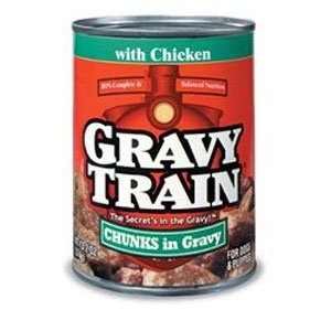 Delmonte Gravy Train Chunks in Gravy with Chicken 24/13.2 oz. Case