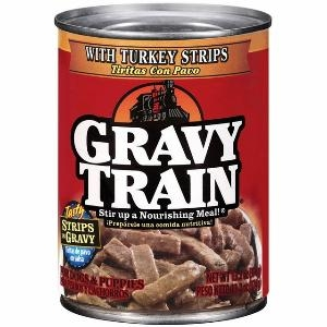 Delmonte Gravy Train Strips in Gravy with Turkey 24/13.2 oz. Case