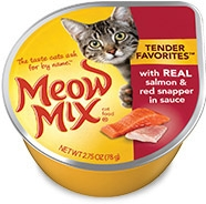 Delmonte Meow Mix Tender Favorites Salmon & Red Snapper in Sauce 24/2.75 oz.