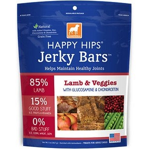 DOGSWELL® 5oz HAPPY HIPS® Jerky Bars™ Lamb & Veggies