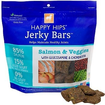 DOGSWELL® 15 oz HAPPY HIPS® Jerky Bars Salmon & Veggies
