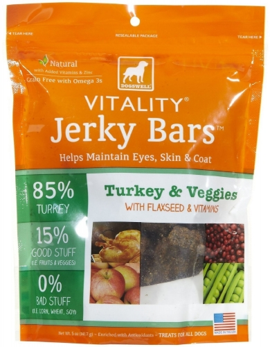 DOGSWELL® 5 oz VITALITY® Jerky Bars Turkey & Veggies  replaces 842355