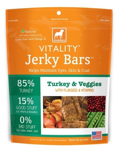DOGSWELL® 15 oz VITALITY® Jerky Bars Turkey & Veggies  Replaces 842358