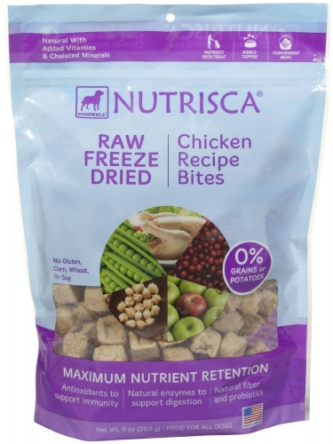DOGSWELL® 11 oz NUTRISCA® Raw Freeze Dried Bites Chicken