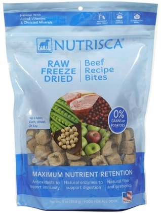 DOGSWELL® 11 oz NUTRISCA® Raw Freeze Dried Bites Beef