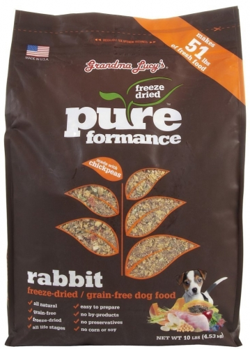 Grandma Lucy's Pureformance Rabbit Grain-Free DOG Food – 3lb