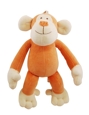 10 inch Brown Oscar Monkey with squeaker