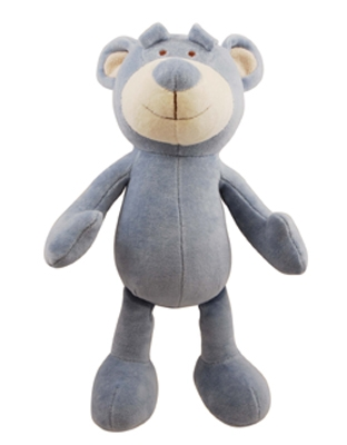 10 inch Blue Wally Bear with squeaker