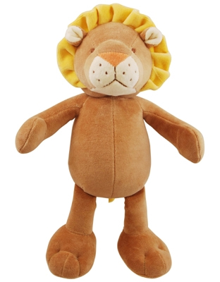6 inch Petite Brown/Yellow Leo Lion with squeaker