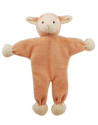 9 inch Pink Stuffless Lolly Lamb with crinkle paper
