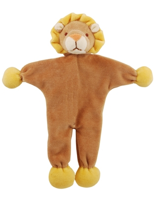 9 inch Brown/Yellow Stuffless Leo Lion with crinkle paper