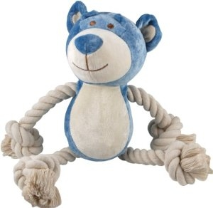 10 inch Bamboo Blue Wally Bear with squeaker