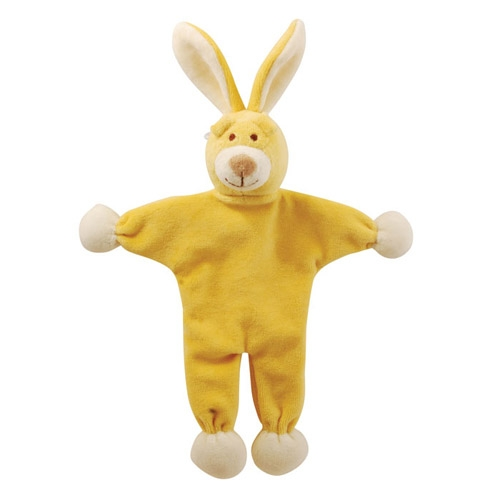 "Lucy 9"" Yellow - Bunny Stuffless - crinkle paper"