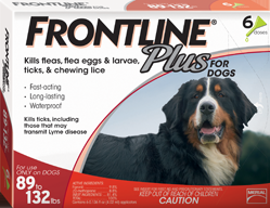 Frontline Plus Flea and Tick Treatment, Dog 89-132#