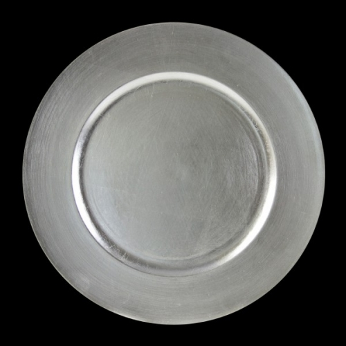 LACQUER ROUND CHARGERS SILVER ROUND CHARGER