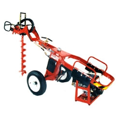 Towable hydraulic auger