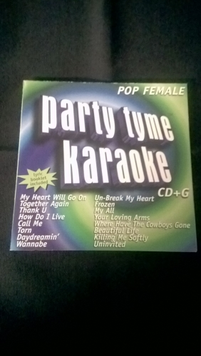 Karaoke CD, Pop Female (#1)