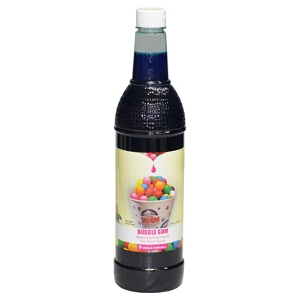 1-qt. Bottle of Sno-Kone® Flavor - Bubble Gum