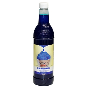 1-qt. Bottle of Sno-Kone® Flavor - Blue Raspberry