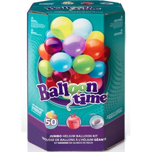 Balloon Time® Jumbo Latex Helium Balloon Kit