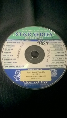 Karaoke CD, Oldies (Star Series)