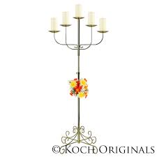 Wedding Candelabra 5 pillar