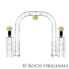 Nickel Wedding Arch with columns