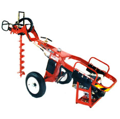 General Equipment 660 DIG-R-MOBILE, TOWABLE HYDRAULIC HOLE DIGGER