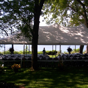 20 x 40 White Tent on Lake Michigan