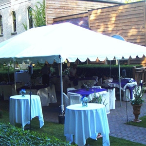 20 x 40 White Frame Tent in Castle Park