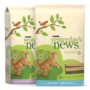 Tidy Cat® Yesterday's News® Softer Texture Litter 30 Lb.