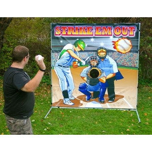 Twister Display Baseball Toss Game