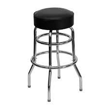 Chrome and Black Bar Stool