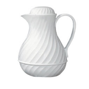 Insulated Beverage Pitcher, 40 oz. White