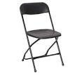 PRE, Black Plastic Folding Chair