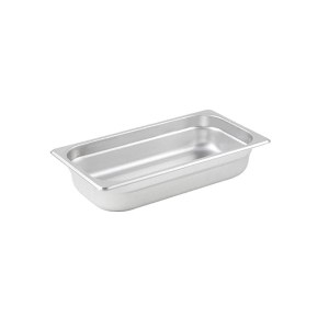 Chafer, 1/3-Size Anti-Jam Heavy Duty Stainless Steel Food Pan 2-1/2