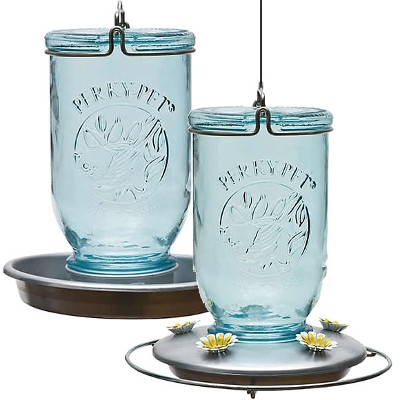 Mason Jar Glass Hummingbird Feeder or Waterer