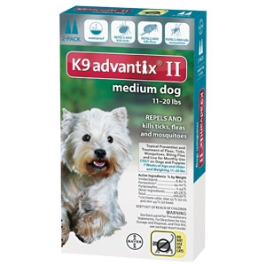 Bayer K9 Advantix II for Medium Dogs