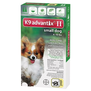 Bayer K9 Advantix II for Small Dogs