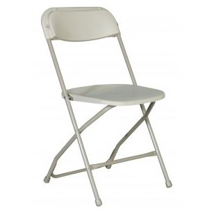 Gray Plastic Folding Chair