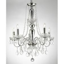Chandelier, Chrome with Crystals