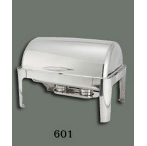 Winco, 8QT Full Size Roll Top Chafer, Oblong