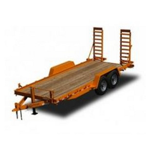 Kaufman, 12,000 GVWR 16 ft. Wood Deck Skid Steer Equipment Trailer
