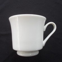 White Contemporary : 8 oz Cup